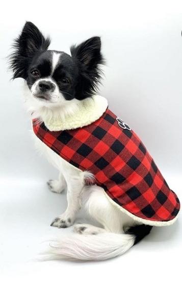 Promoção Roupa Pet Inverno Casaco Cachorros G Vermelha.