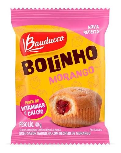 Bolinho De Baunilha Com Morango Bauducco 40g