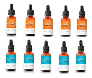 Kit Re Ventas 5 Ácido Hialurônico + 5 Vitamina C Petúnia