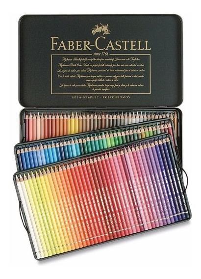 Lápis Profissional Faber Castell Polychromos 120 Cores *blac