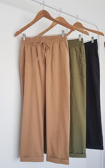 Pantalon Babucha De Gabardina Gamuzada-envio Gratis!