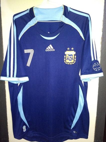 Camiseta De Argentina 2006 #7 Saviola, Mundial Alemania 2006