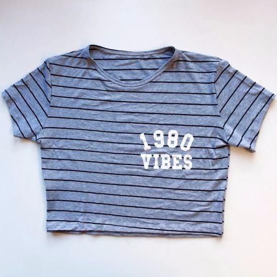 Cropped Blusa Listrada Vibe Moda Blogueira Feminino 096