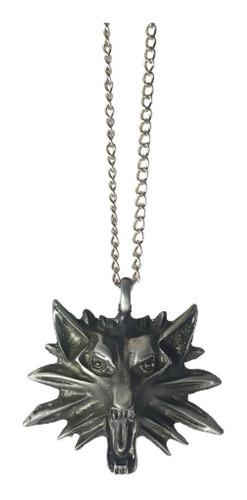 Imagen 1 de 3 de The Witcher 3 Dije Collar Lobo Wild Hunt Ojos Rojos