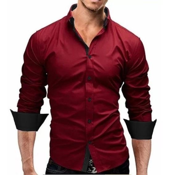 Kit 3 Camisa Social Slim Fit - Pronta Entrega E Envio 24hrs
