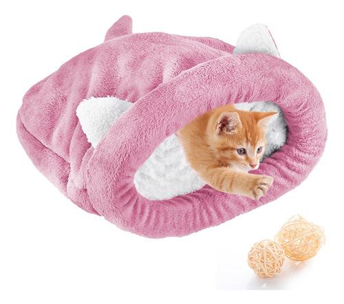 Cama Do Animal De Estimação Gatos Saco De Dormir Quente Acon