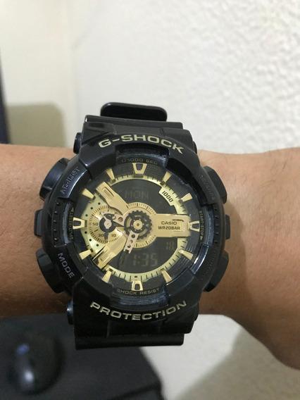 Relógio G-shock Preto/dourado - Ga-110gb-1adr