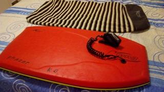Prancha Bodyboard Kung Pro + Capa + Cordinha + Pé De Pato S