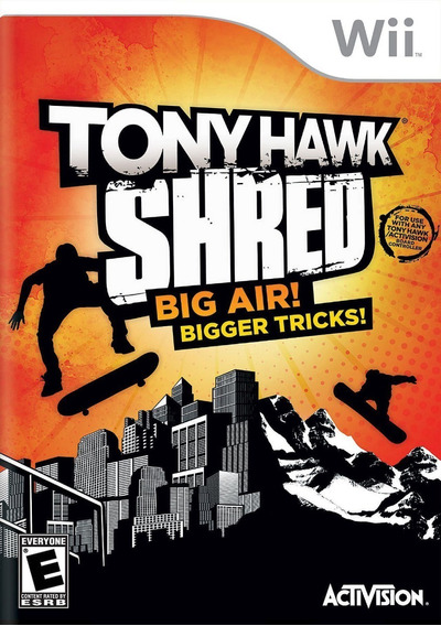 Jogo Tony Hawk Shred Nintendo Wii Original Game Sem Skate