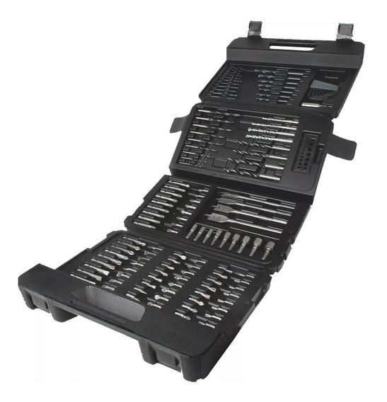 Set 129 Accesorios Para Taladro A7211xj Black Decker Maleta