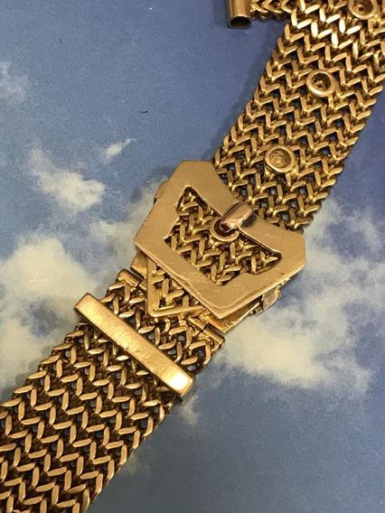 Pulseira Para Relógio Em Ouro 18k-750, Peso: 44.5 Gramas