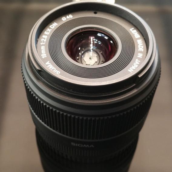 Lente Sigma 19mm Ex Dn Para Sony
