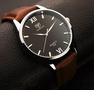 Reloj Hombre, De Lujo, Correa De Cuero, 2019