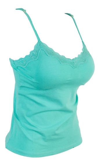 Blusa Blusinha Renda Alcinha Decote Bojo Viscolycra #br