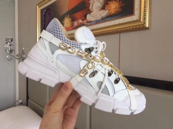 Zapatillas Gucci Flashtrek White