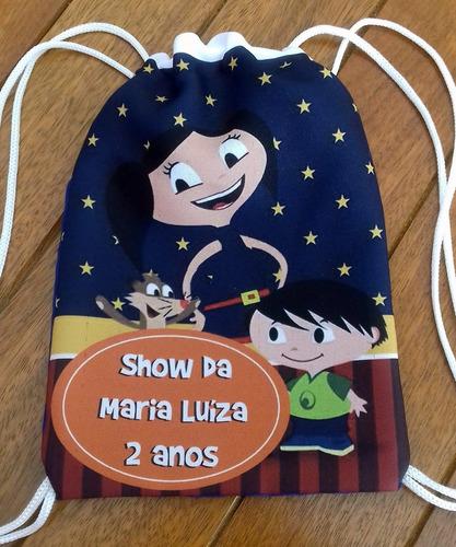 20 Mochilinhas Lembrancinha Personalizada Luna Show