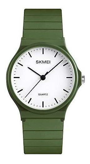 Reloj Skmei Analógico Olivo Verde Deportivo Y Casual