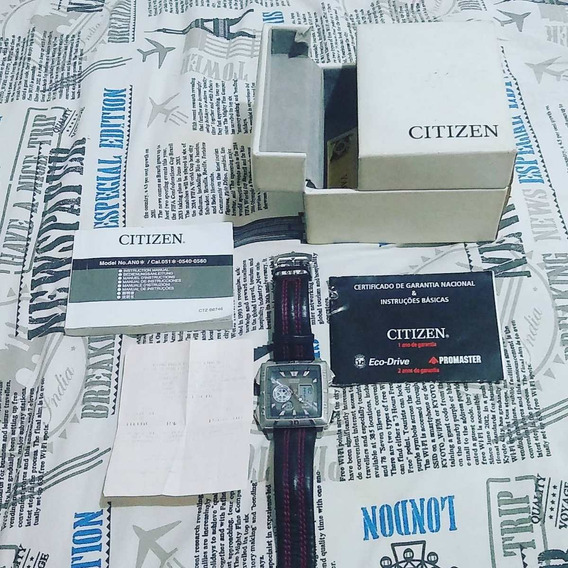 Relogio Citizen Eco Drive Promaster Quadrado W.r. 10bar