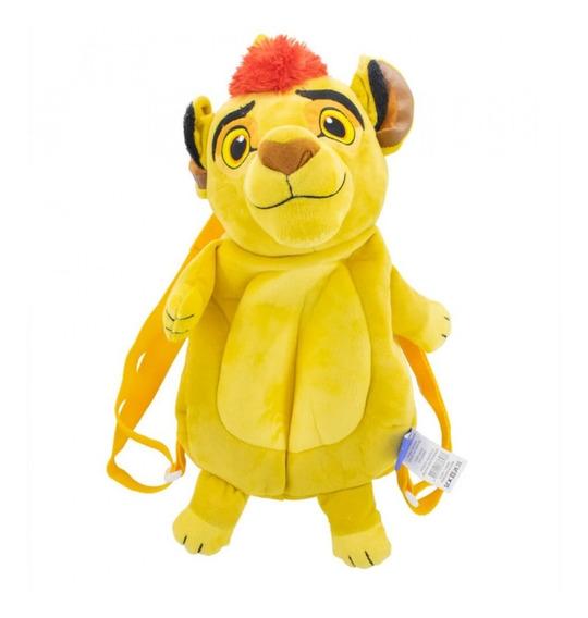 Mochila Infantil Kion Guarda Do Leão Pelúcia Disney