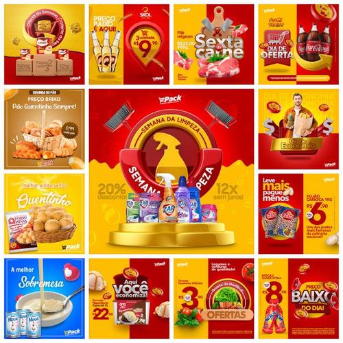 Imagem 1 de 4 de Super Pack Photoshop Supermercado 5,76gb Encarte Canva Psd