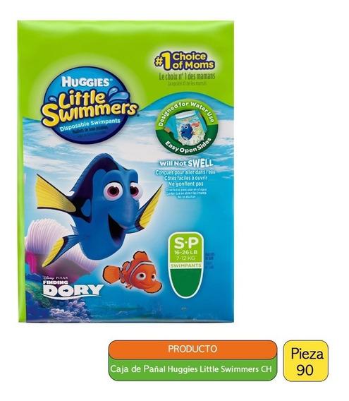 Caja Pañal Para Alberca Huggies Little Swimmers Ch (90 Pzas)