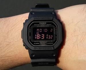 Relógio Original Casio G-shock Dw-5600ms-1drvisor Escuro