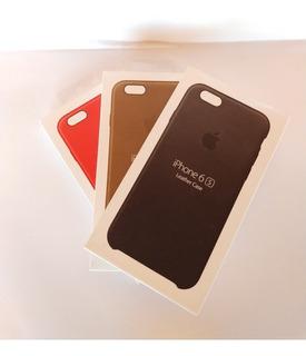 Capa iPhone 6/6s Couro Vermelha,marrom,preta Original.
