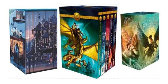 Box Livro Harry Potter + Box Heróis Do Olimpo + Box Percy