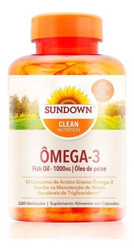 Imagem 1 de 4 de Ômega 3 Sundown 320 Caps Fish Oil 1000 Mg Óleo De Peixe Puro