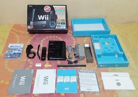 Nintendo Wii Black Rvl-001 (bra) Desbloqueado Completo !!!