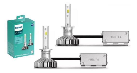 Kit Lampada Led H1 Philips Ultinon 12v 6200k 160% + Luz