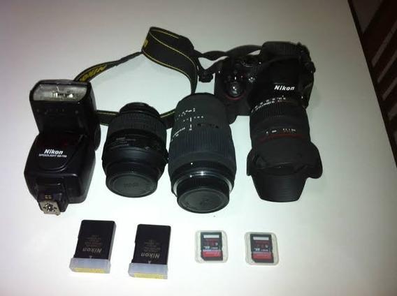 Câmera Nikon D7200 + 2 Lens + 1 Flash