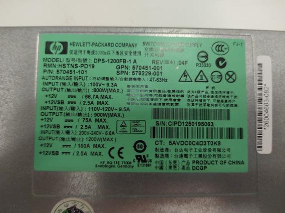 Fonte Hp 1200w 80 Plus Platinum Mineração Eth Btc 12 Pci Exp