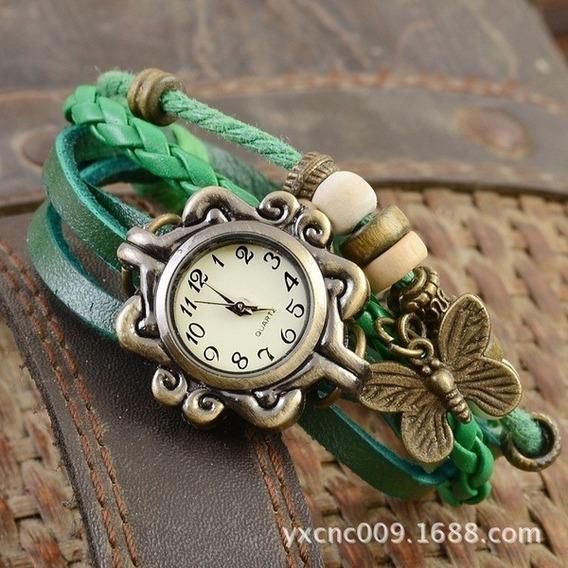 Relógio Pulseira Verde Vintage