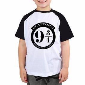 Camiseta Harry Potter Platform 9 3/4 Criança Tam 2 Ao 14
