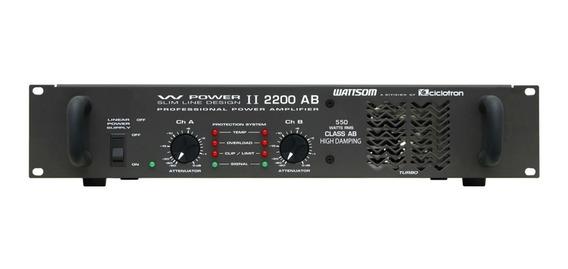 Amplif.wattson De Potencia Wp2200 4 Ohms (mostruário)