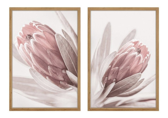 Quadros Decorativos Conjunto Floral Quarto Sala Moldura