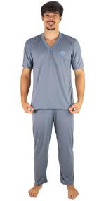 e2cdf39a8d42ca Roupa de Dormir Pijamas para Masculino Prateado com o Melhores ...