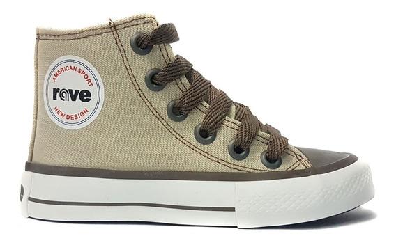 Zapatillas Botita Rave Tipo Converse 27-33 Art. 1019