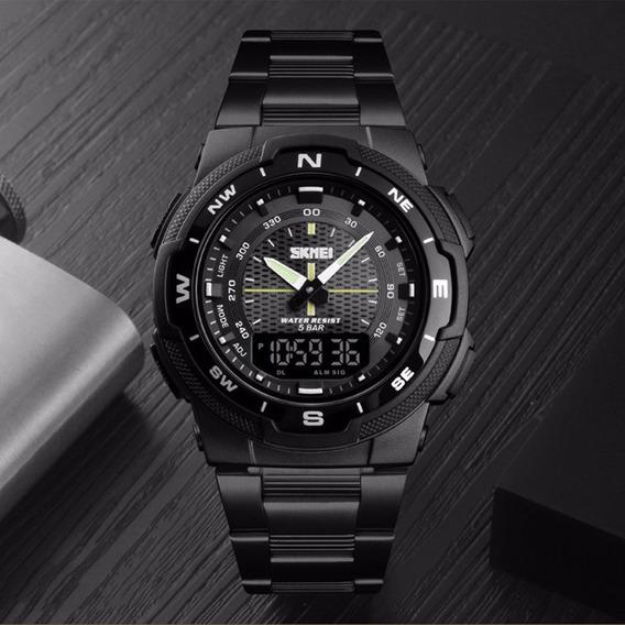 Relógio Esportivo Skmei 1370 Cronom. Dual Time Res Água 50mt