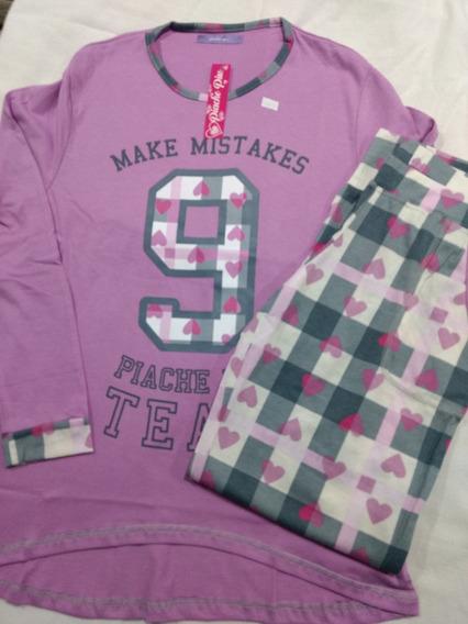 Pijama Mujer Invierno Piache Piu 204 Talles S Lila