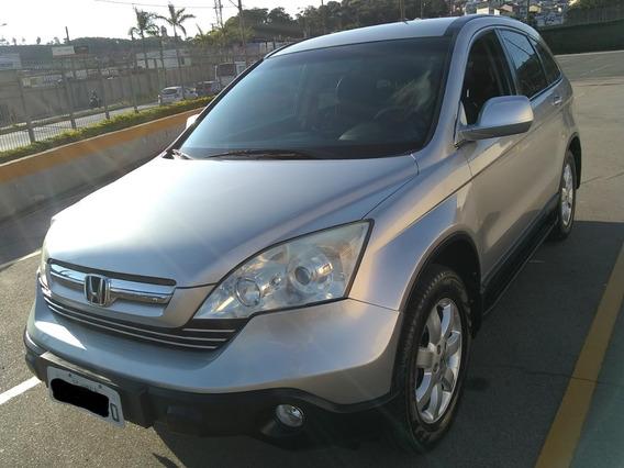 Honda Crv 2009 Prata Ótima Para Família