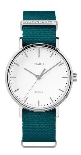 Reloj Timex Mujer Verde Tw2r49000