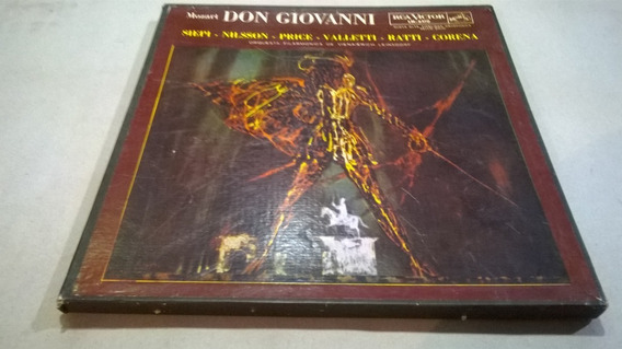 Don Giovanni, Mozart, Nilsson - Box Set 4 Lp Nacional Nm