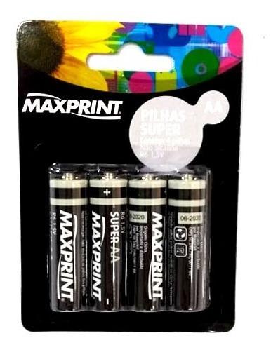 Pilha Super Aa | Pequena | 4 Unidade | Maxprint | 75644-9