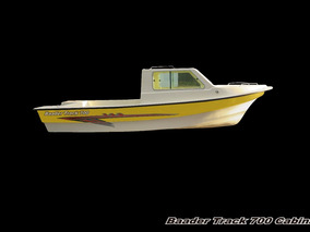 Lancha Tracker Baader Track700,cabinada,equipo De Pesca