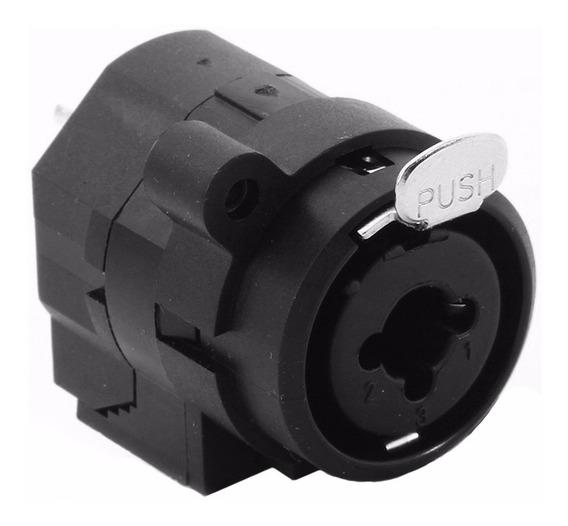 Conector Jack Santo Angelo Combo Xlr E P10 Preto Audio Mesa