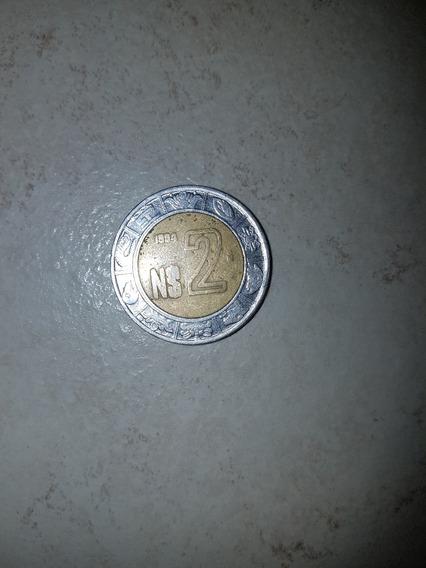 Moneda Del Nuevo Peso Mexicano ( 2 Pesos )