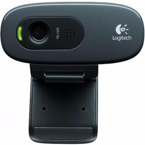 Web Cam Logitech C270 Usb 720p Hd 30fps Com Microfone E Nf