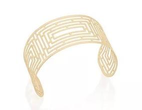 Bracelete Rommanel Aro Largo Labirinto Folheado Ouro 551530